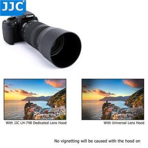Image 5 - JJC lentes reversibles parasol para Canon EF 70 300mm f/4 5.6 IS II USM sustituye a Canon ET 74B con botón para Bloquear o liberar