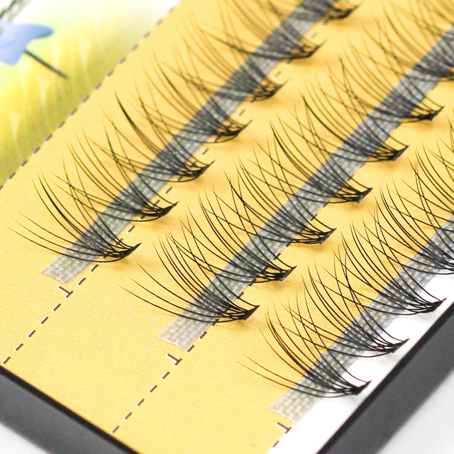 Grafting world 10D Natural Eyelash Extensions Mink Black Fake False Eyelashes Curl Natural Eye Grafting Individual Lashes