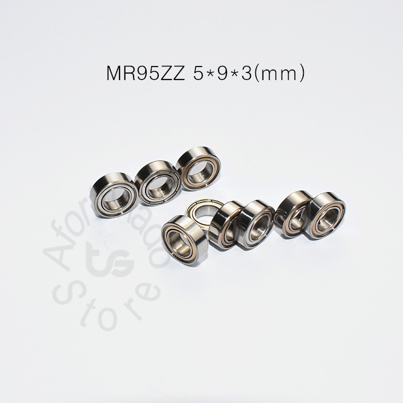 MR95ZZ 5*9*3(mm) 10piecesfree Shipping Bearing ABEC-5 Metal Sealed Miniature Mini Bearing MR95 MR95ZZ Chrome Steel  Bearing