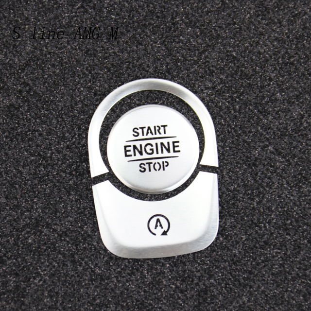 Car Styling for Mercedes Benz A Class W177 GLE W167 GLB Interior Auto Start Stop Engine Push Switch Buttons Cover Stickers Trim