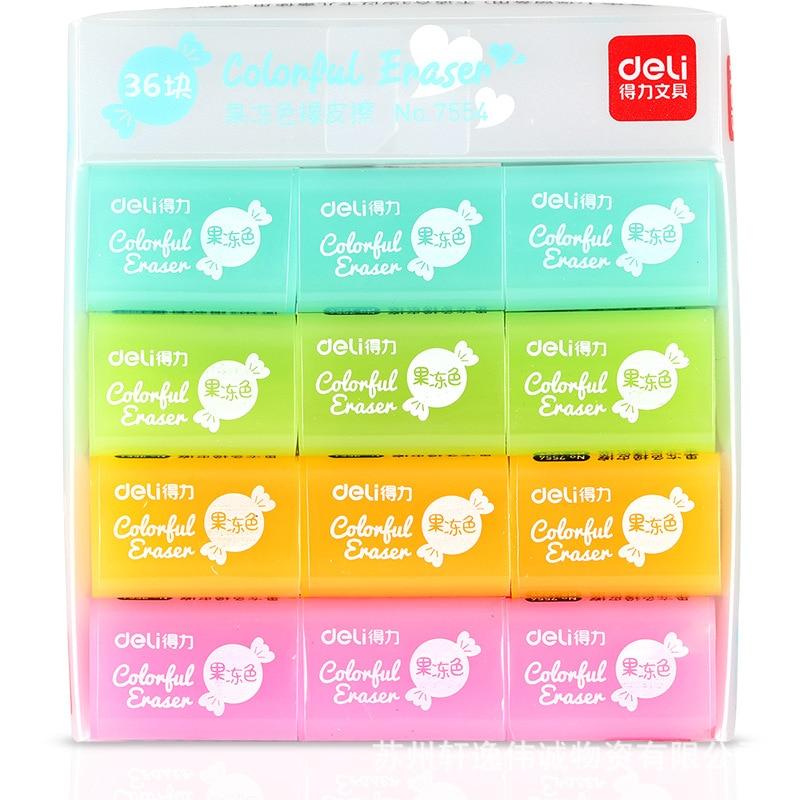 Deli 7554 Rubber Eraser 4B Rubber Exam Fine Art Rubber Eraser Rubber Mapping Children Stationery Jelly Color