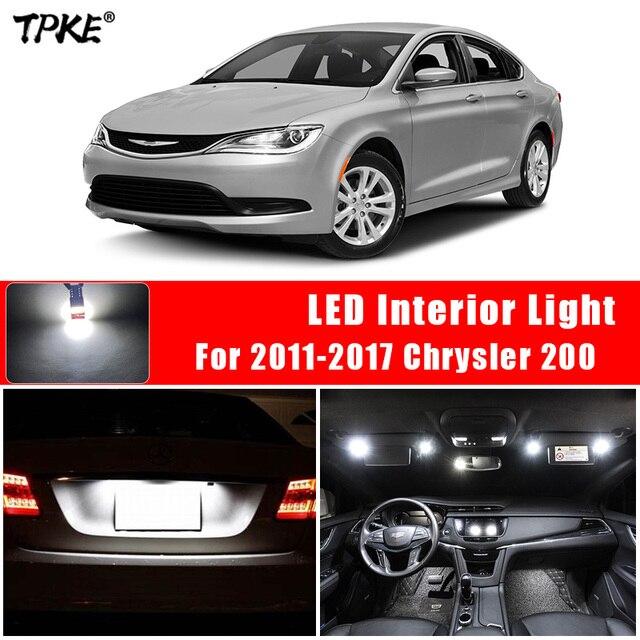 For 2011-2017 Chrysler 200 White Car Accessories Canbus Error Free LED Interior Light Reading Light Kit Map Dome License Lamp 1