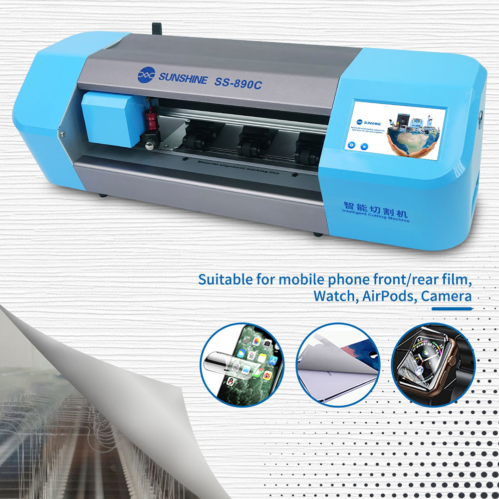 Image 2 - SS 890C smart laser precision cutting machine  for mobile phone LCD screen protect Water coagulation membrane cutting ToolPower Tool Sets   -
