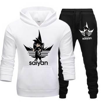 SAIYAN Men's Sets drop shipping hoodies+Pants Harajuku wholesale Sport Suits Casual Sweatshirts Tracksuit Sportswear plus 5XL