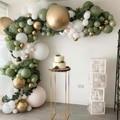 152pcs Macaron воздушные шары-гирлянды Арка Свадебные украшения с днем рождения Baby Shower Детские 1st День рождения воздушные шары Suppiles