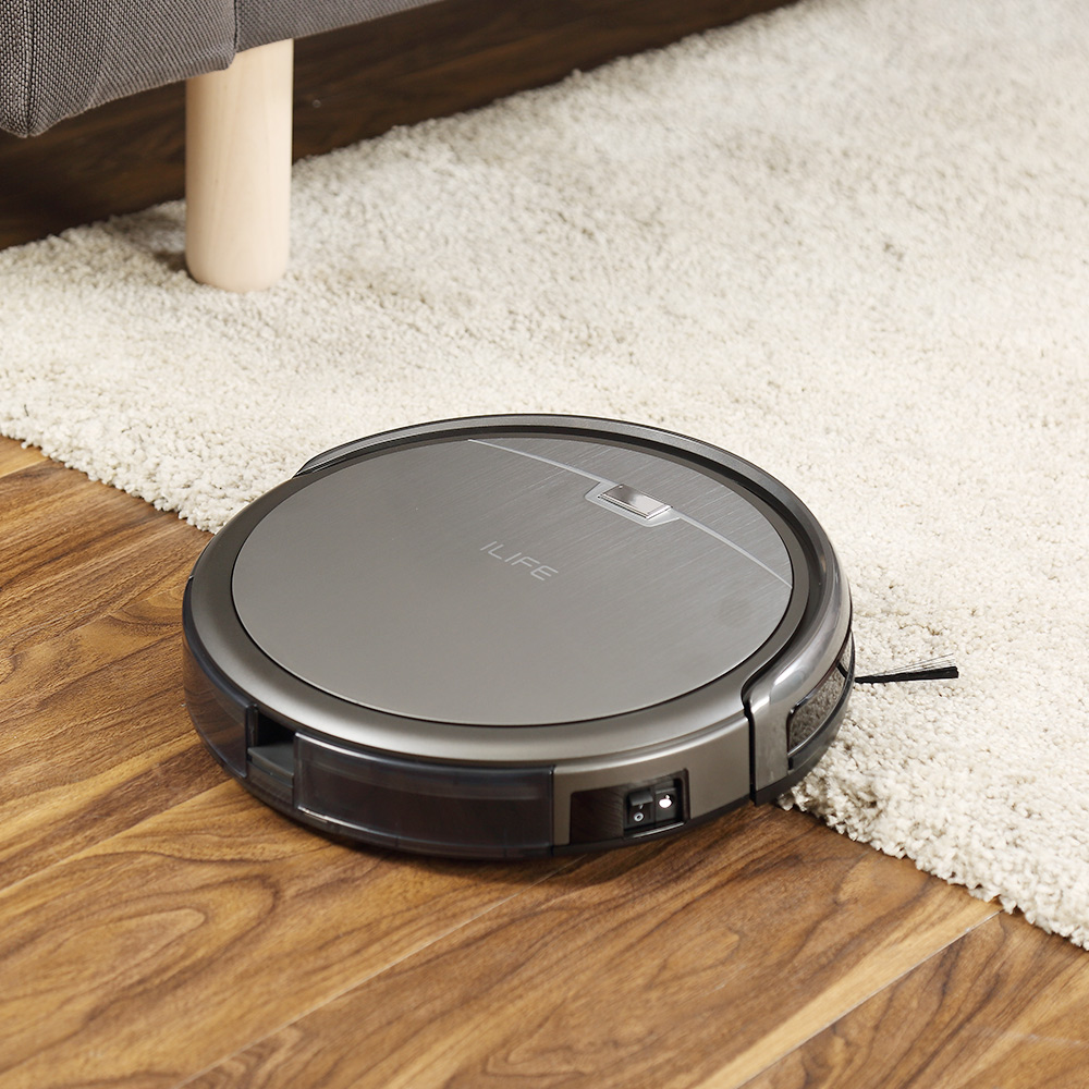 ILIFE A4s Robot Vacuum Cleaner Powerful Suction for Thin Carpet & Hard Floor Large Dustbin Miniroom Function Automatic Recharge 6