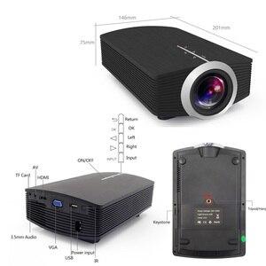 Image 5 - ThundeaL YG400 up YG400A Mini proyector portátil 1800 Lumen Pantalla de sincronización con cable más estable que WiFi Beamer Cine en casa de película  Compatible con AC3 HDMI VGA AV USB proyector