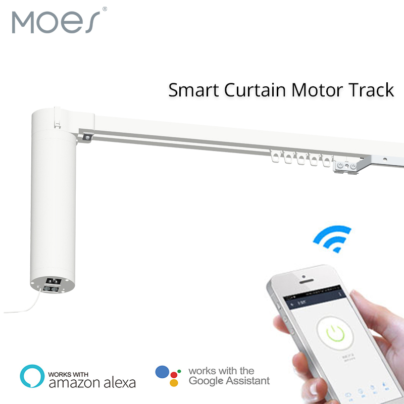 Wifi Smart Automatic Curtain Motor Track System Motorized SMART LIFE APP Remote Control Works With Amazon Alexa Echo Google Home