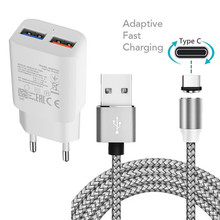 Phone-Adaptive Magnetic-Type-C-Cable Fast-Usb-Charger Xiaomi Samsung Galaxy 10-Redmi