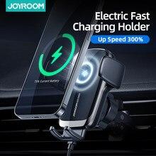 Joyroom 15W Qi araba telefon tutucu kablosuz araba şarjı otomatik hizalama araç tutucu CD hava firar dağı üniversal araç şarjı