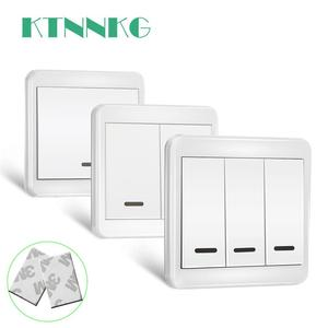 Image 1 - KTNNKG 433MHz Universal Wireless Remote Controls 86 Wall Panel RF Transmitter With 1 2 3 Buttons for Home Room Lighting Switch