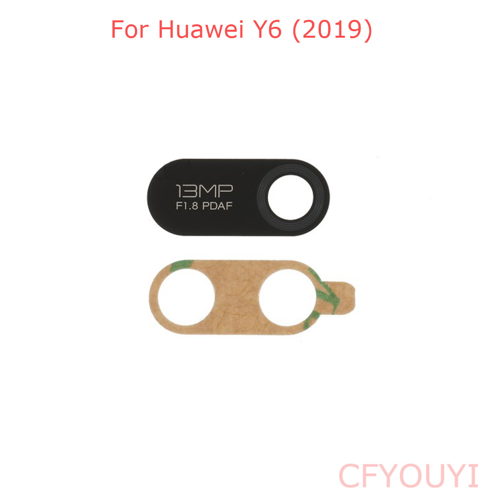 1~5pcs Back Rear Camera Glass Lens With Adhesive Stickers Glue For Huawei Y6 2019