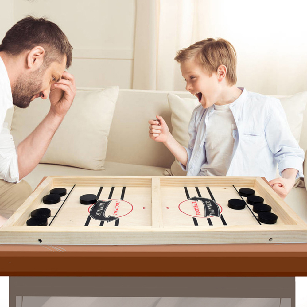 Foosball Games Super Winner Sling Puck Game Fun Toys Board-Game table desktop battle 2 in 1 ice hockey game Toys For Adult Child-2