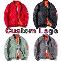 Customized Logo Design Winter Polit Coat Custom Bomber Jacket Women Men Red Pink Grey Green