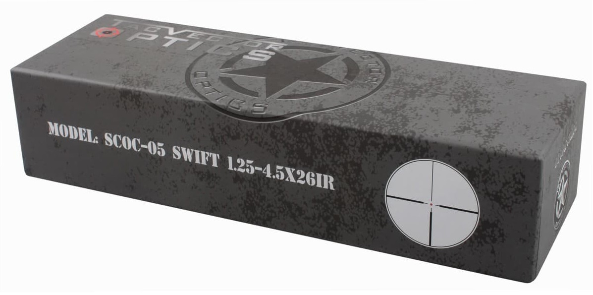 Óptica do vetor tactical swift 1.25-4.5x26 arma