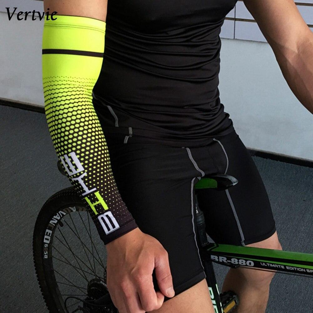 Вертикальный Прохладный Для мужчин Велоспорт Бег с защитой от УФ-лучей манжеты крышка защитный рукав велосипед на руку для бега и занятий с...
