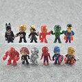 12 шт./лот Disney супергероями из «Мстителей» версии с изображением Железного человека, Тора, Халка «Капитан Америка», «Человек-паук фигурка гер...