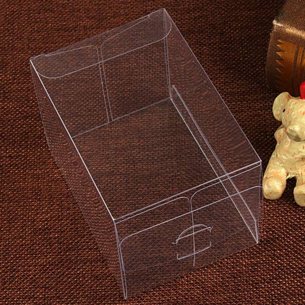 PVC Clear MATCHBOX TOMY Toy Car Model 1/64 TOMICA Hot Wheels Dust Proof Display Protection Box 82*40*30mm