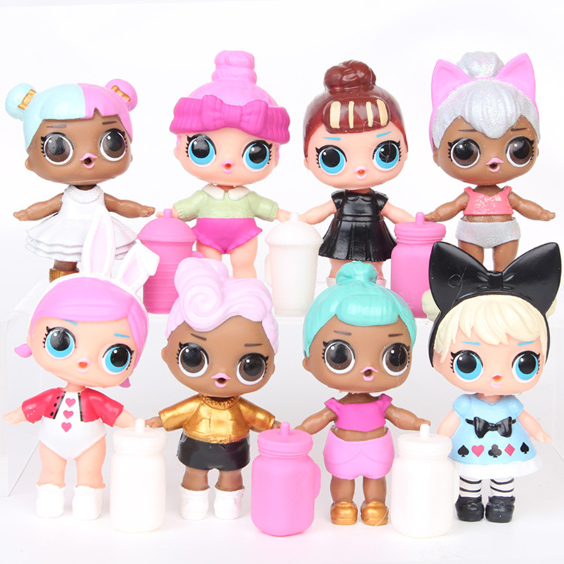 Originale Lol Surprise 8 Pcs Lol Surprise Dolls Toys Girls Clothes Accesorios Kids Christmas Halloween Birthday Decoration Gift