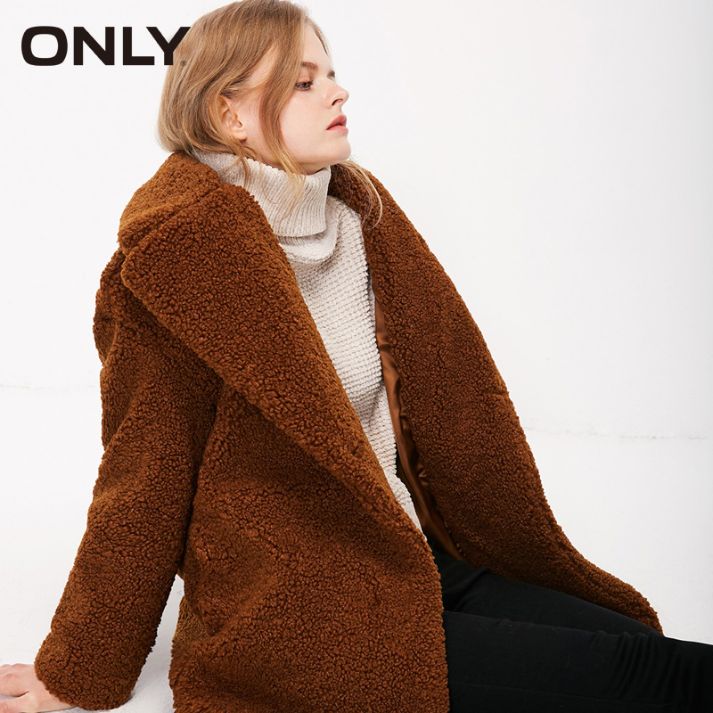 Image 2 - ONLY Autumn winter jacket women Faux Fur Coat Casual  teddy Bear Overcoat  118322512Faux Fur