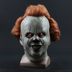 Image 4 - 2019 ใหม่ Pennywise หน้ากาก Led Latex Stephen King It 2 Joker หน้ากากหมวกกันน็อกฮาโลวีน Party Dressed น่ากลัวอุปกรณ์เสริม Prop 3 ประเภท
