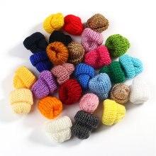 Мини плюшевый шарик вязаная шапка diy Детская одежда ручной