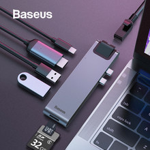Baseus Usb Hub C Hub Multi Usb 3.0 Hdmi Adapter Usb Splitter Voor Macbook Pro Thunderbolt 3 Dock RJ45 dual Usb Type C Hub Dex(China)