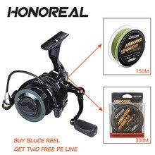 HONOREAL 6.3:1 Fishing Reel 2000H-5000H Spinning Tackles Drag Power 10BB Wheel Long Casting