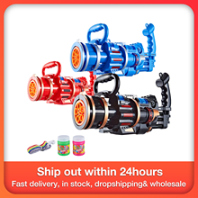 2-в-1 электрическая машина пузыря с пузырь игрушка Гатлинга пистолет для стрельбы мыльными пузырями Kid Игрушка Дети Спорт на открытом воздух...