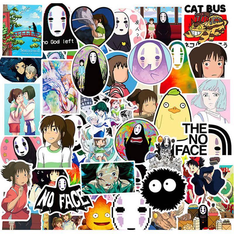 10/30/50pcs Pack Cartoon Anime Spirited Away Stickers Waterproof PVC Skateboard Luggage Motorcycle Laptop Guitar Kid Toy Sticker