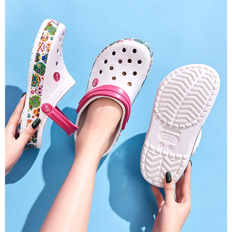 2019 Women Men Beach Shoes Sandals Home Slippers Outdoor Summer Sea Aqua Shoes Croc Wading Sneaker Leisure Shoes