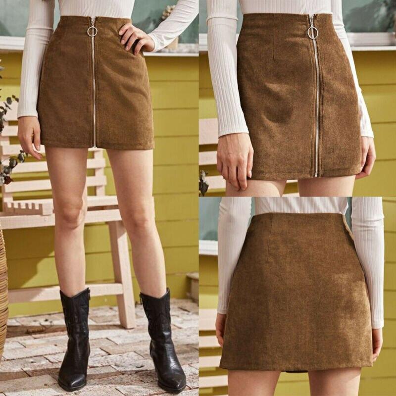 Fashion Women's Lady Pencil Bodycon Mini Skirt High Waist Stretch Zipper Party Clubwear Skirts Streetwear