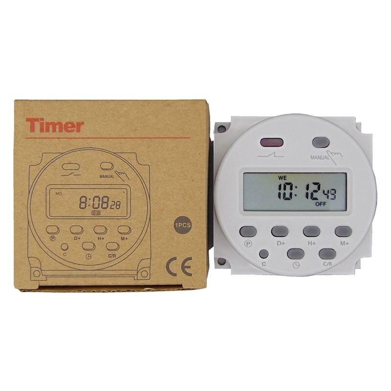 Таймер 220 В 110 В 24 в 12 В CN101A цифровой ЖК-таймер питания программируемое реле времени 16 А CN101