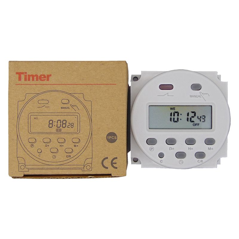 timer 220V 110V 24V 12V CN101A Digital LCD Power Timer Programmable Time Switch Relay 16A CN101(China)