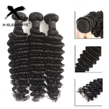"Deep Wave Bundles 100% Human Hair Bundles Brazilian Hair Weaves 1/3/4 Bundles Non Remy Natural Color 8"" 26"" Hair Extensions"