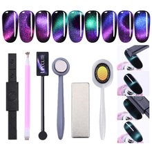 LILYCUTE Double Head Eye Cat  Magnet Stick Strong 3D Effect for Magnetic UV Gel Polish Round Square Shape Nail Art Tool
