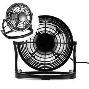 Usb-Charging-Fan Mini Portable Home Office for 4pieces PP Fan-Blades