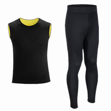 Men Long Johns compression men t-shirt + leggings Neoprene fitness shirts top for man tracksuit thermal underwear shaper