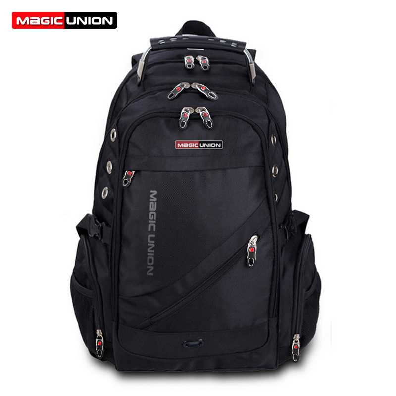 MAGIC UNION Brand Design Men's Travel Bag Man Swiss Backpack Polyester Bags Waterproof Anti Theft Backpack Laptop Bag Men