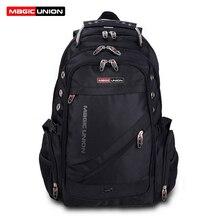 MAGIC UNION Brand Design męska torba podróżna mężczyzna szwajcarski plecak torby z poliestru wodoodporny z zabezpieczeniem przeciw kradzieży plecak na laptopa mężczyzn