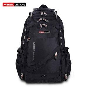 Image 1 - Magic union mochila de viagem para homens, mochila masculina de viagem impermeável feita em poliéster à prova de furtos com espaço para laptop