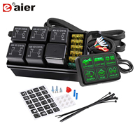 6 Gang Switch Panel Electronic Relay System Circuit Control Box Fuse Relay Box Wiring Harness Assemblies For Car Truck Jeep