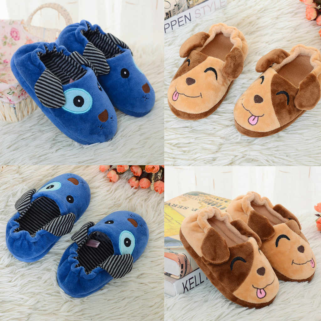 เด็กวัยหัดเดินเด็กรูปร่างสุนัขรองเท้าผ้าใบอุ่นรองเท้าทารกเด็กผู้หญิง Home Leisure การ์ตูน Soft-Soled รองเท้าแตะ patagonia