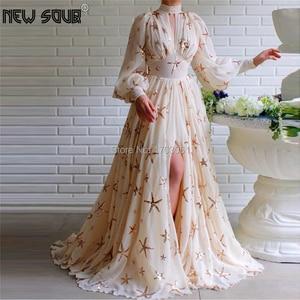 Image 1 - Bling Ngôi Sao Nữ Váy Đầm Dạ Tay Sang Trọng Thổ Nhĩ Kỳ Hồi Giáo Vũ Hội Đầm Đầm Vestido De Festa 2020 Chính Thức Đảng Bầu Dubai