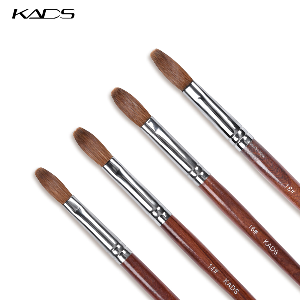 KADS Acrylic Brush 100% Kolinsky Acrylic Sable Nail Brushes Manicure Nail Art Brush Kit For Nail Extension UV Gel Builder Tools