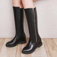 купить Knee High Winter Autumn Boots Over The Knee Women Boots Soft Leather Zipper Women Boots Thigh High ladies Shoes zapatos de mujer по цене 1969.38 рублей