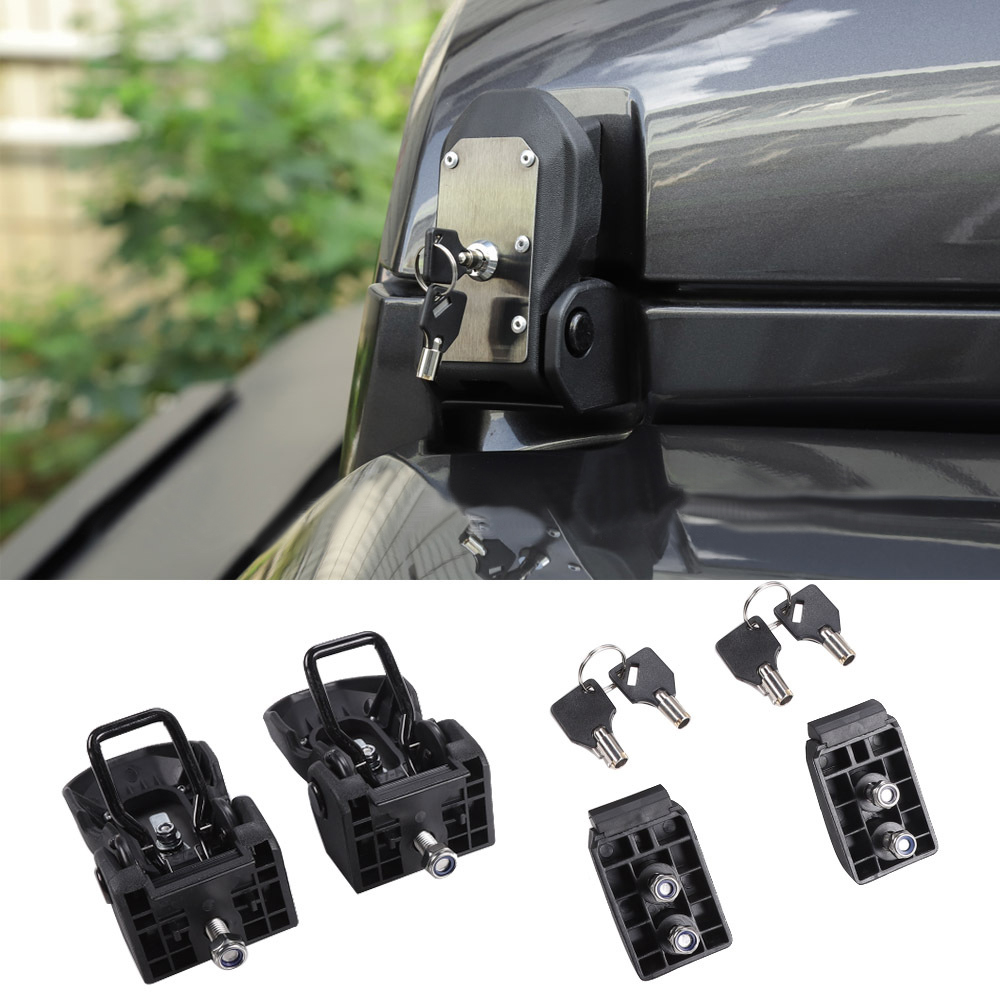 Car Auto Lock <font><b>Hood</b></font> <font><b>Latch</b></font> For <font><b>Jeep</b></font> 2007 -2017 Parts Anti Theft Steel Lock Assembly image