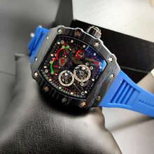 2020 pełna funkcja nowy Richard męskie zegarki Top marka luksusowe zegarki męskie Mille DZ mężczyzna zegar kwarcowy automatyczne zegarki na rękę tanie tanio ZHIMO Luxury ru QUARTZ STAINLESS STEEL Nie wodoodporne CN (pochodzenie) Klamra 20mm Hardlex Male watch 20inch Skórzane
