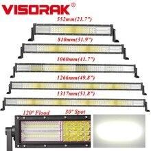 VISORAK 22 32 42 50 52 дюймовая изогнусветодиодный Светодиодная панель рабочего освещения 4x4 4WD грузовик внедорожник вездеход Светодиодная панель для трактора 4WD 4x4 внедорожник вездеход грузовик