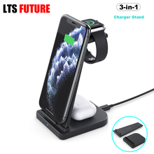 3 in 1 Magnetic Wireless Charging Dock, Portable Desktop Charger Stand for iPhone Airpods Pro iWatch Samsung Xiaomi Phone Holder